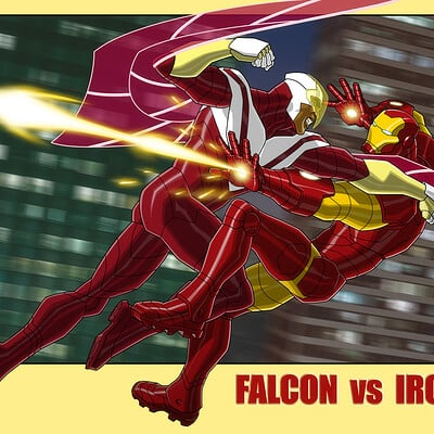 Jerome moore falcon vs iron man my final filter