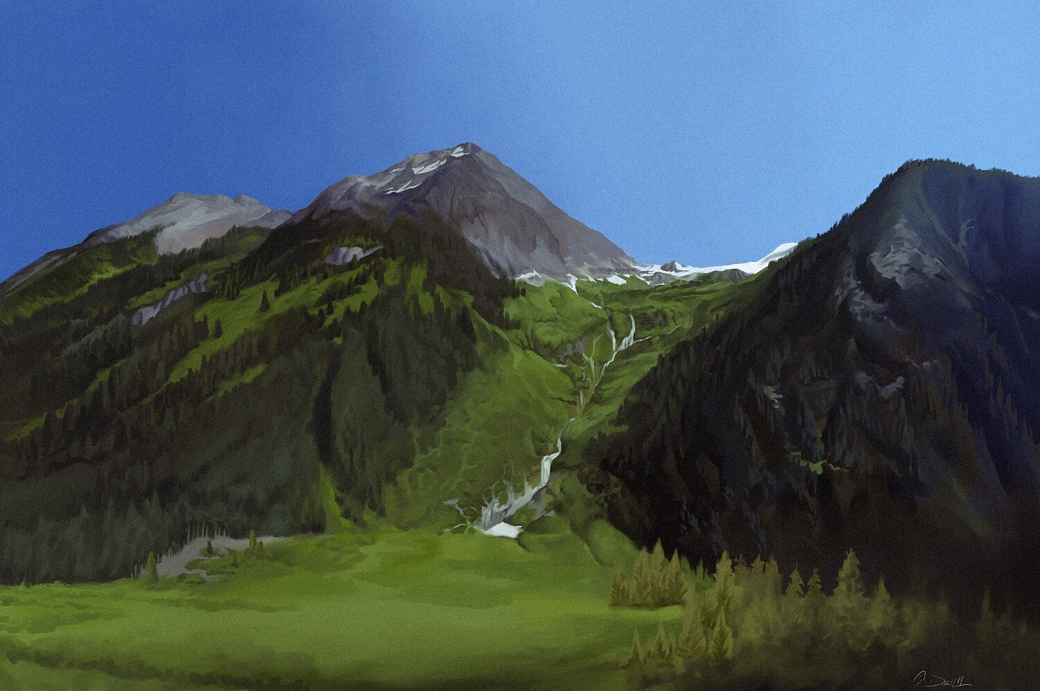 Mountain study painting