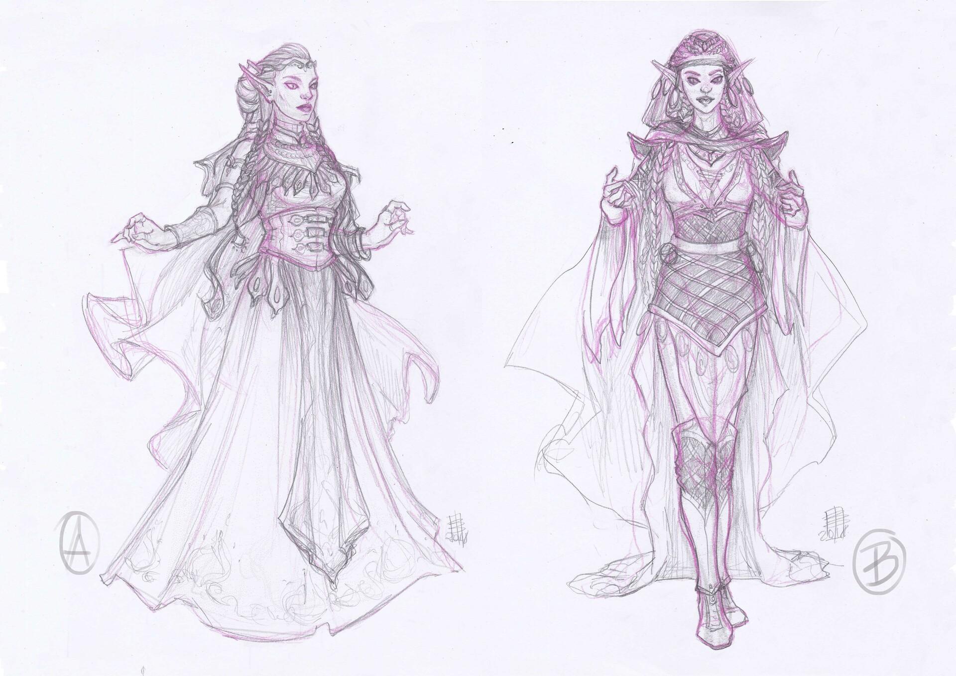 Beatrice pelagatti elf of celmae sketches