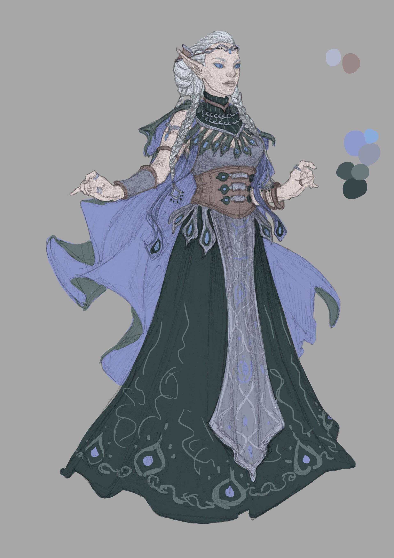 Beatrice pelagatti elf of celmae color wip1
