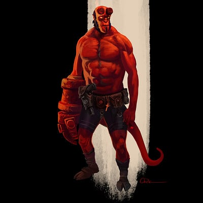 Chaim garcia hellboy painting chaim garcia