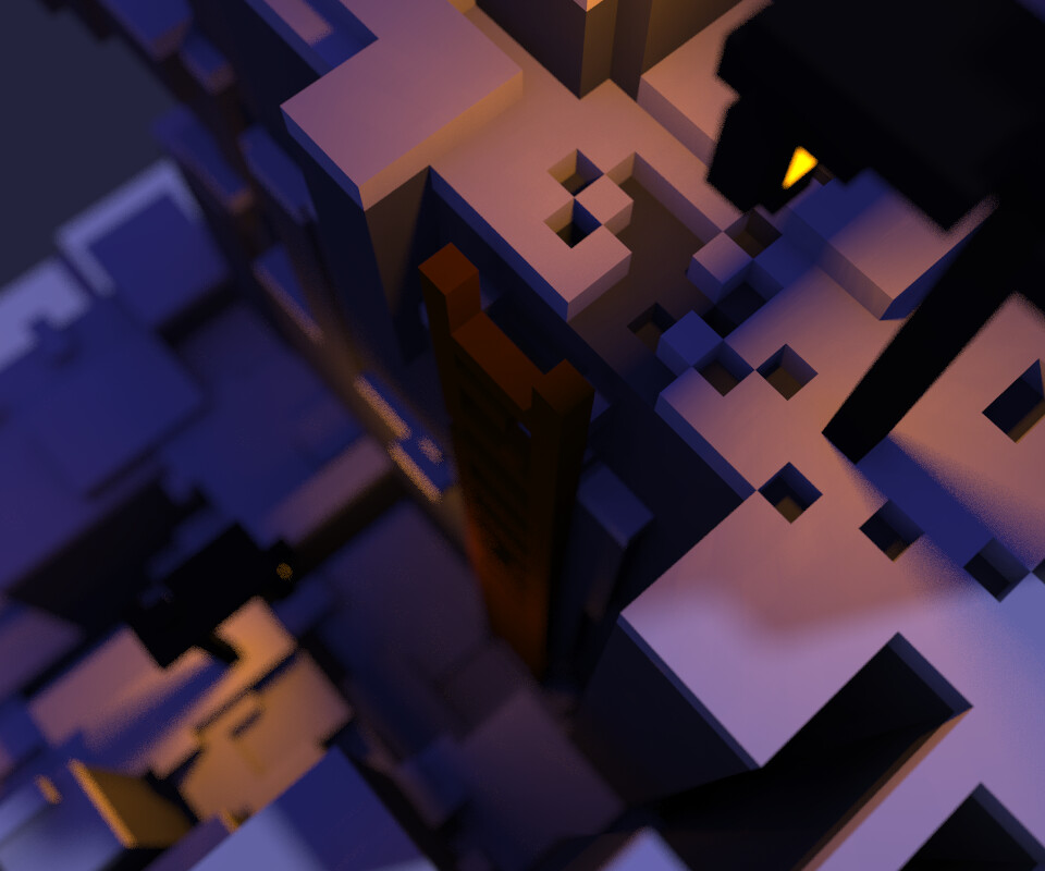 ArtStation - Cursed Mountain - Voxel Model for Indie Game, Lynda Mc