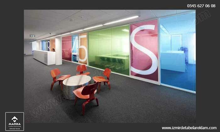 Izmir tabela reklam hizmetleri izmir cam kaplama kumlu cam giydirme ofis 4