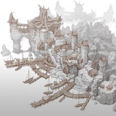 Min seub jung harbor town