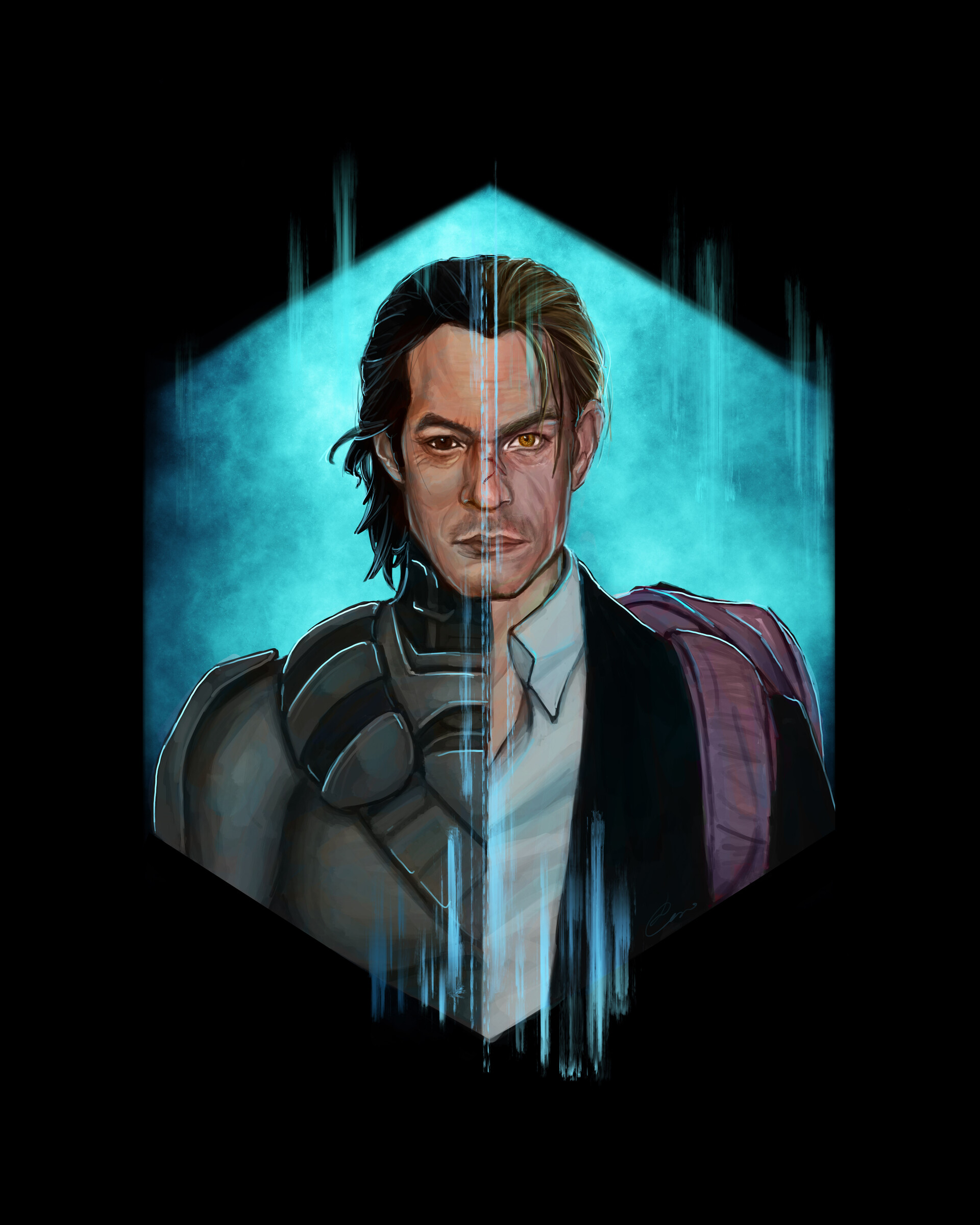 Altered Carbon Kristin artstation - altered carbon characters, luana caruso