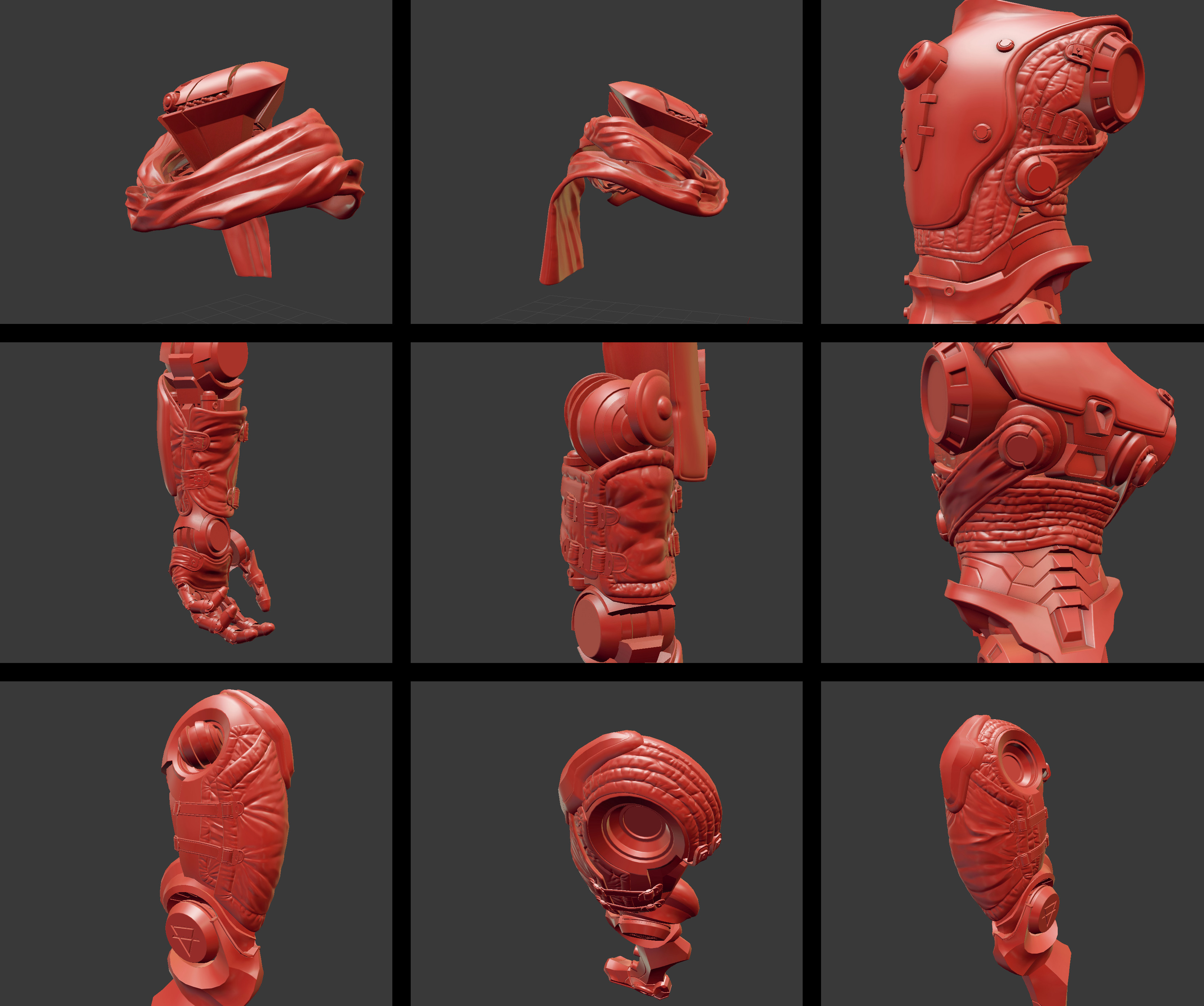 Fabric and armor sculpt