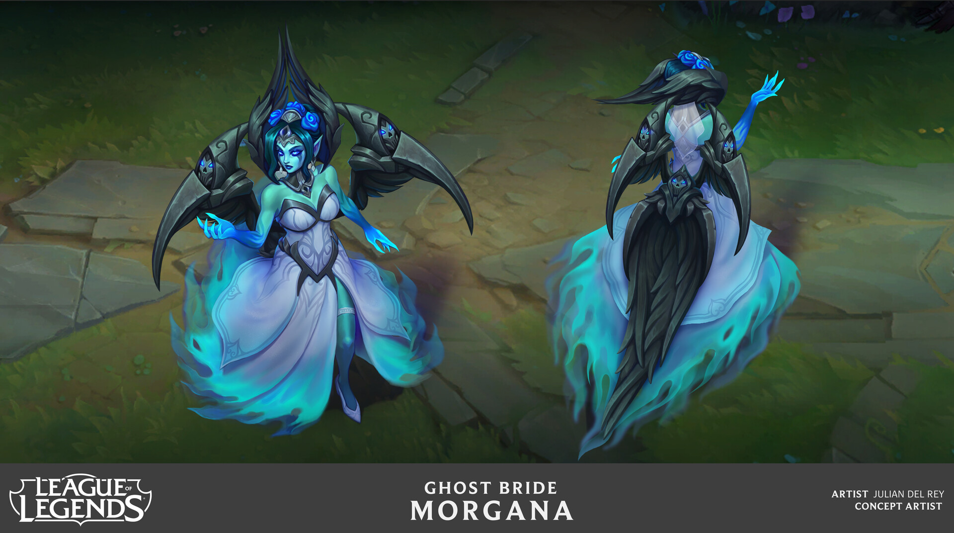 Kayle and Morgana Concept Art by Oussama Agazzoum and Lonewingy