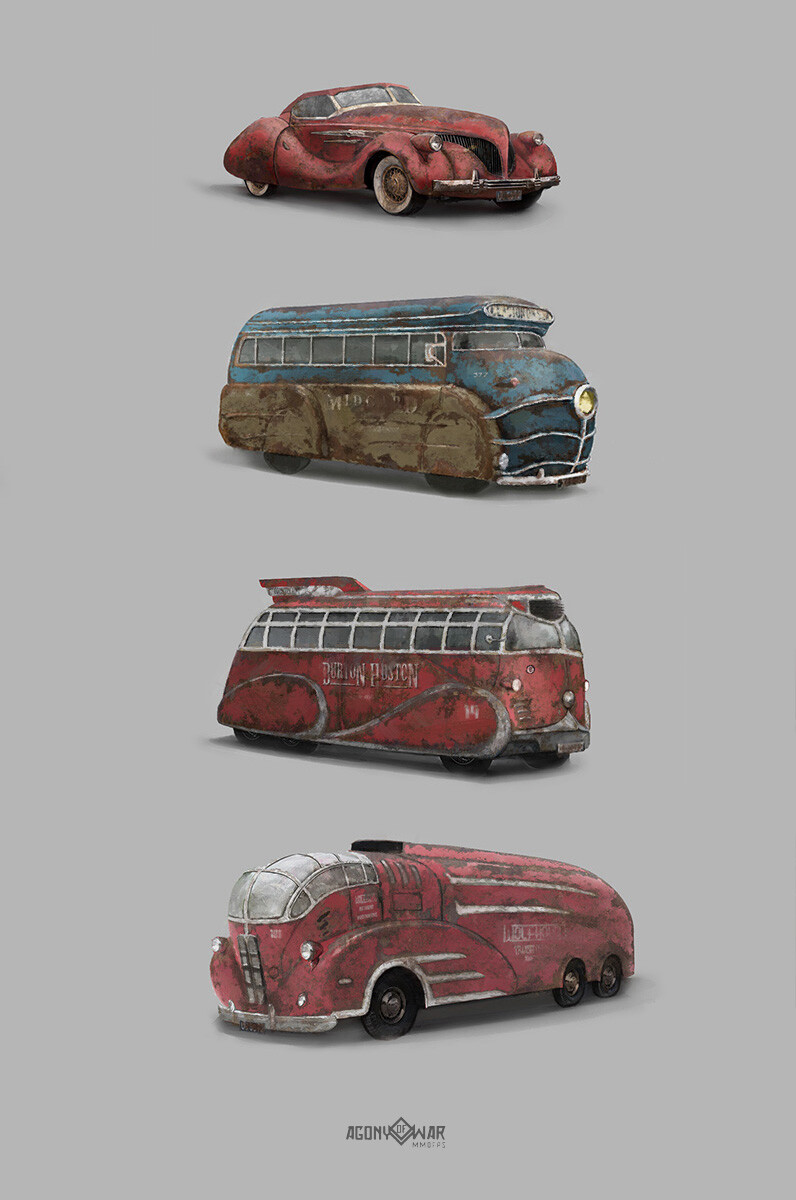 Timur kvasov vehicles rust prints