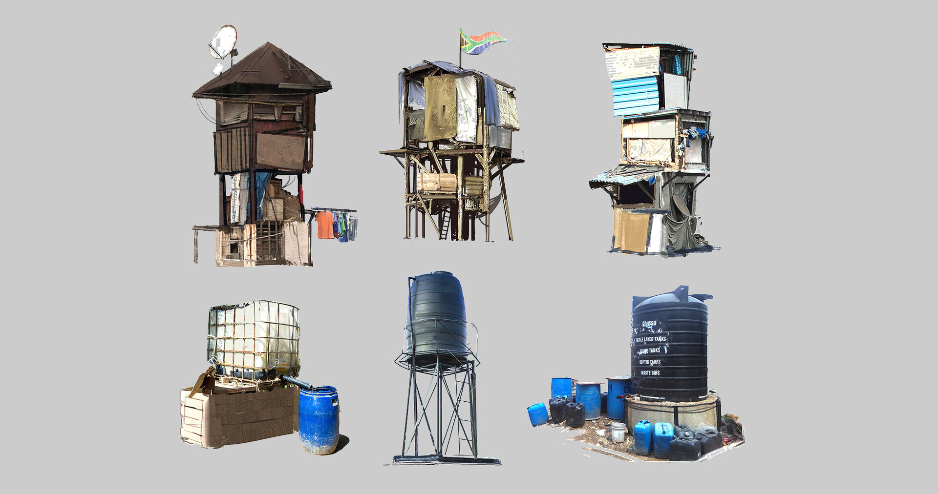 Jonas hassibi gorillas slums props tower 01