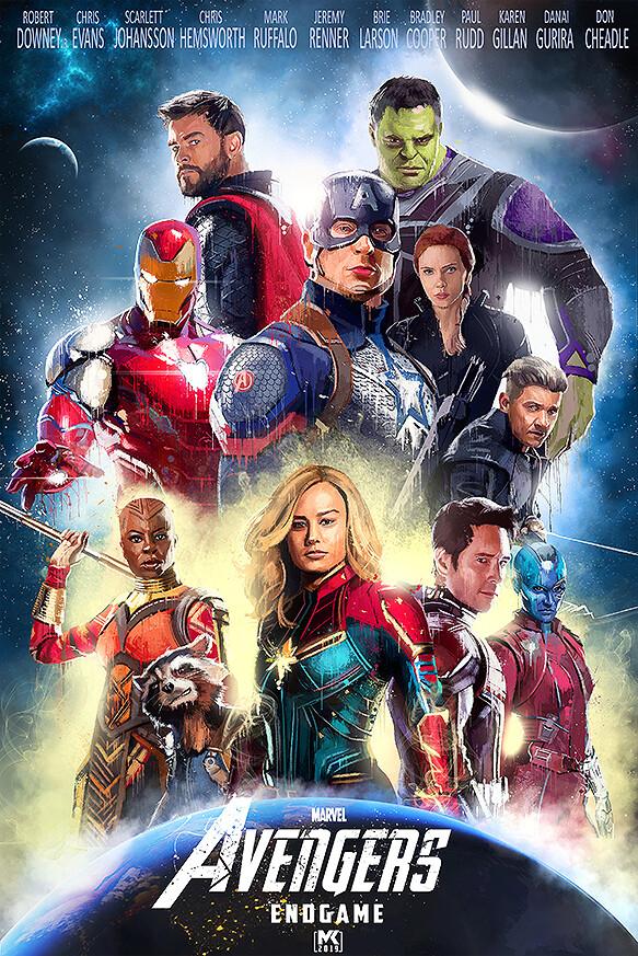 Artstation Avengers Endgame Poster Splashart Mayank Kumarr