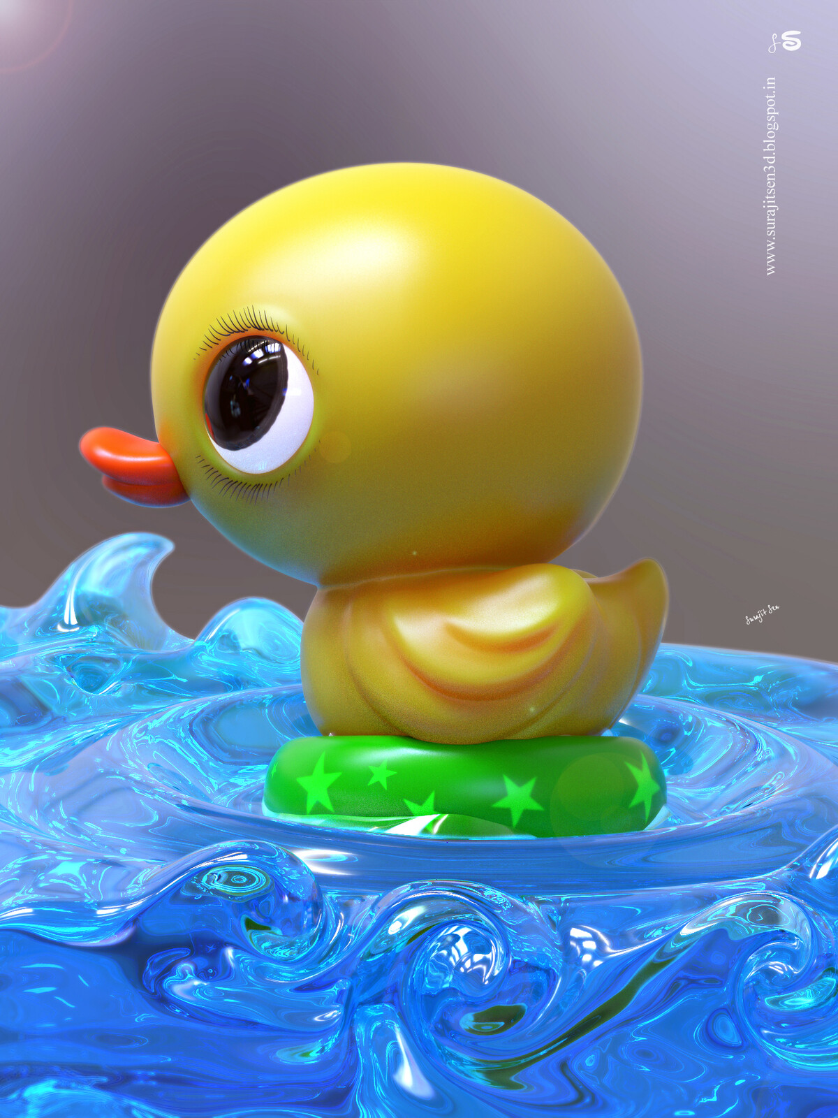 """""""Pingpong -CG Duck"""" Played with brushes! Wish to share my quick digital sculpt study of #duck! Hope you like it  :)"""