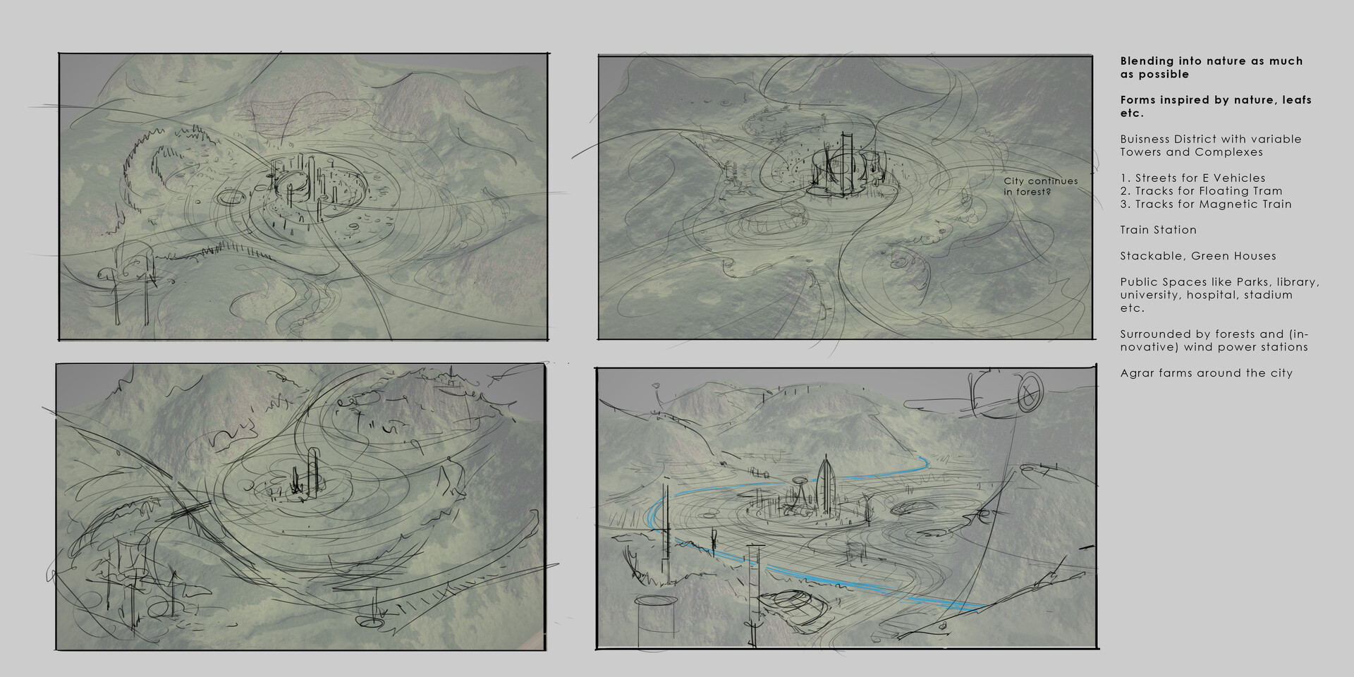 Jonas hassibi future city sketches
