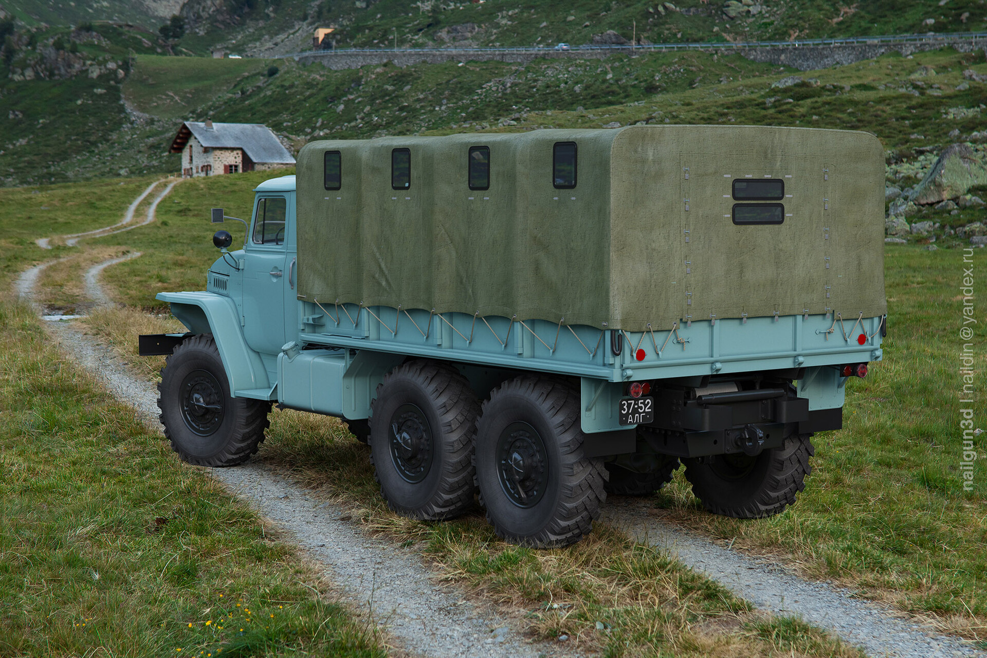 Nail khusnutdinov alg 043 010 ural 375d rear view 3x
