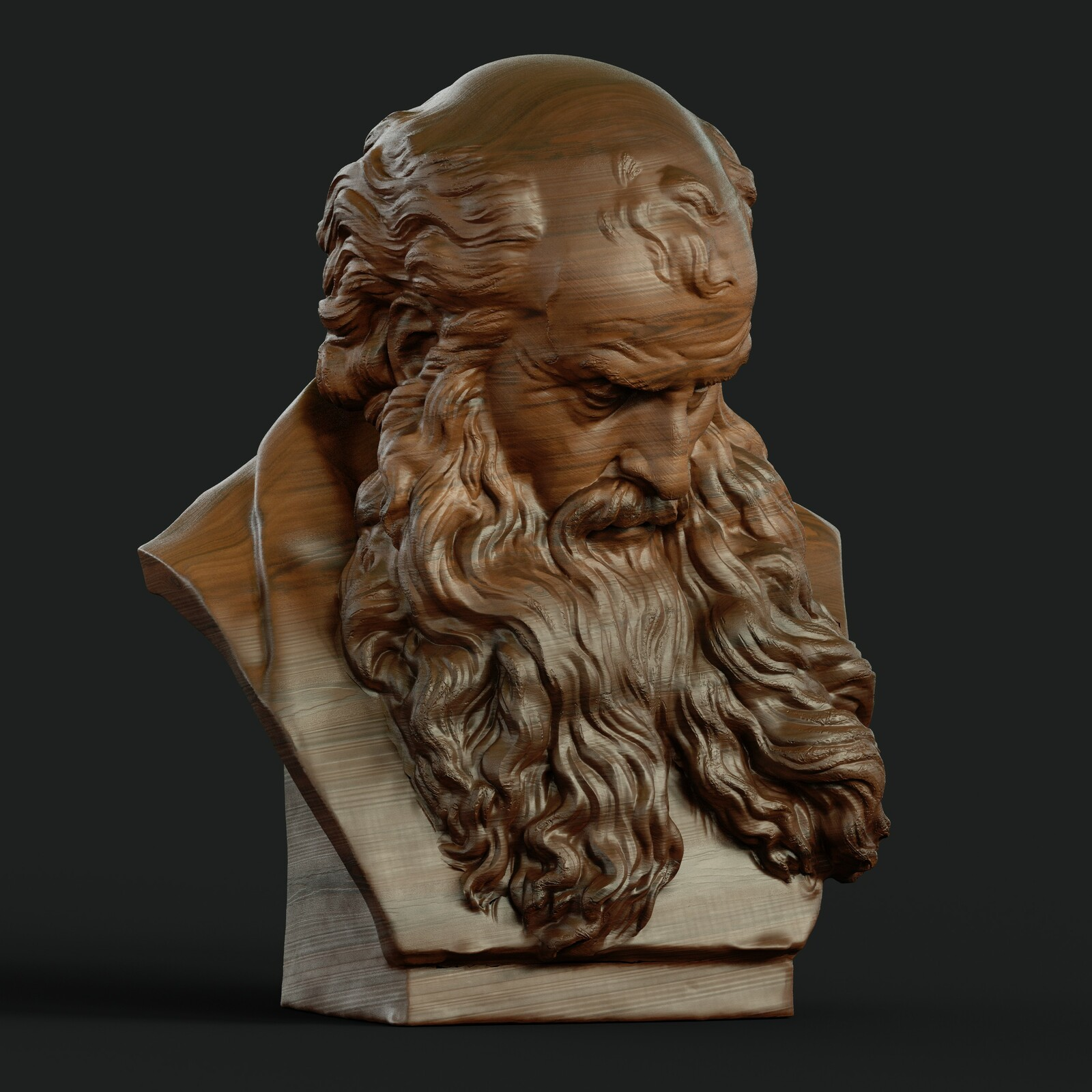 Head of a bearded old man from the Victoria & Albert Museum - London