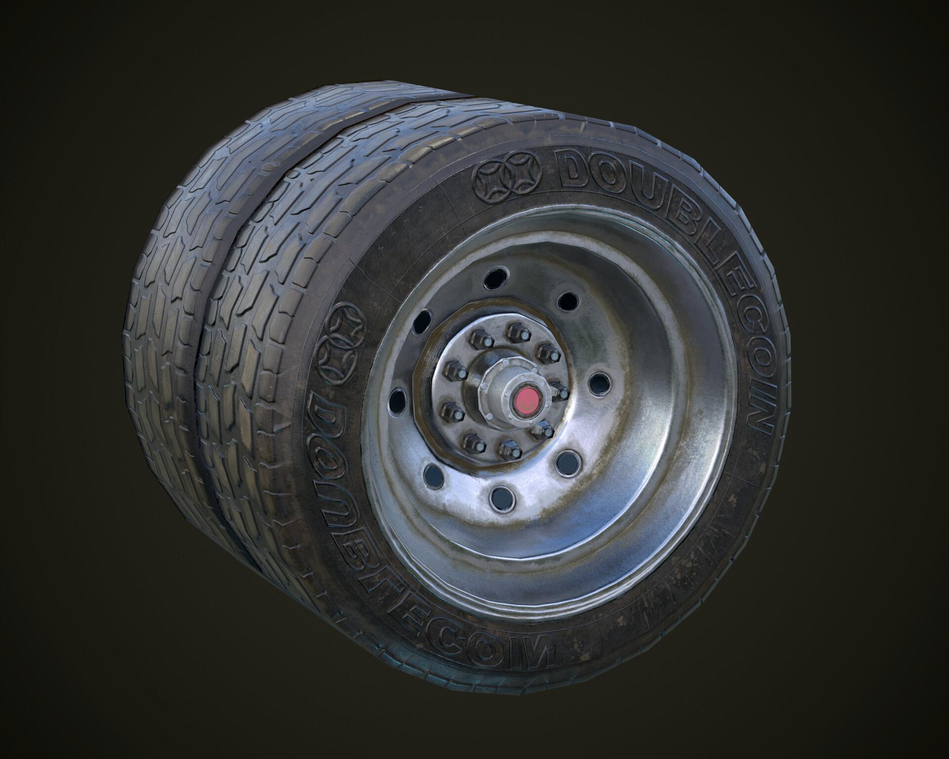 ArtStation - Truck wheel, Ivan Savenets