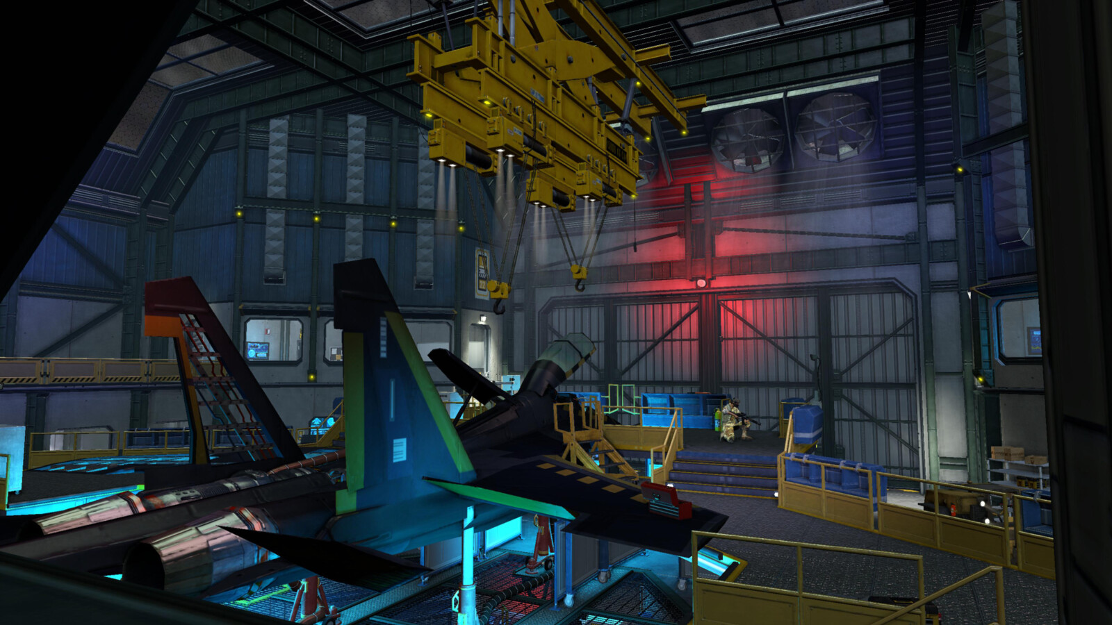 Secret Military Airbase: Jet assembly (VITA)