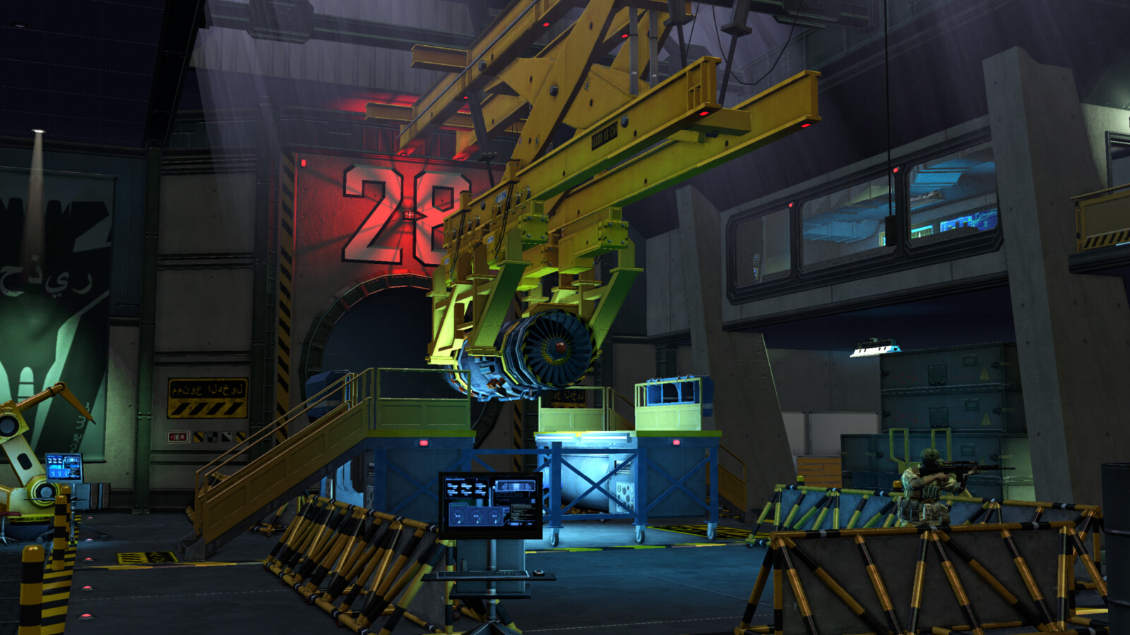 Secret Military Airbase: Engine testing chamber (VITA)