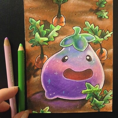 Nasika sakura day 57 march 19 kawai eggplant slime photo v2