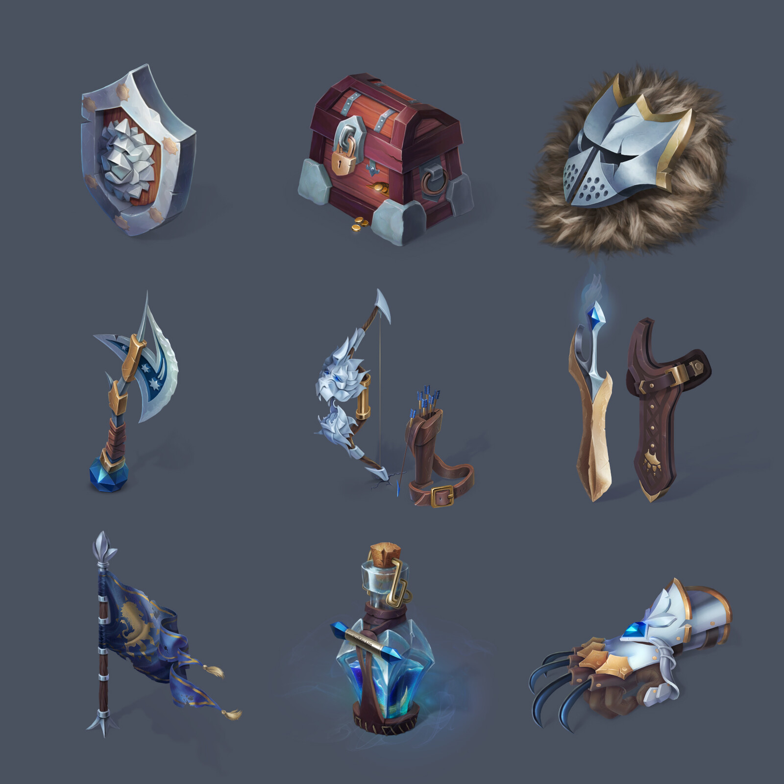 Lion Knight's props