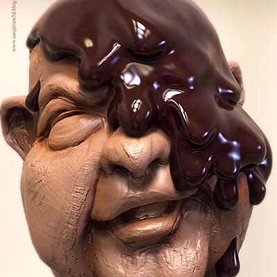 Surajit sen chocolaty smile digital sculpt by surajitsen march2019