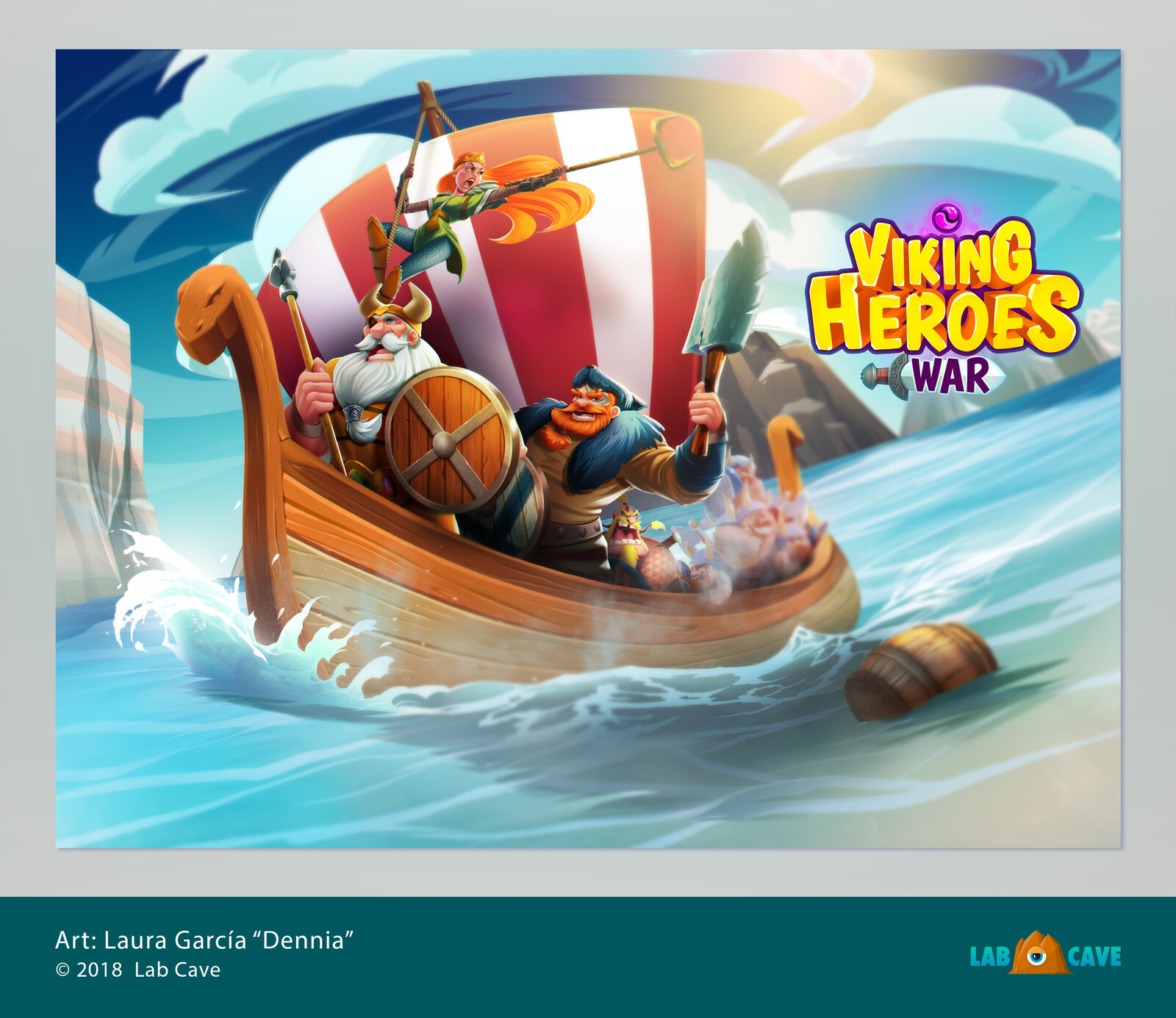 """Screenshot art for """"Vikings Heroes War""""."""