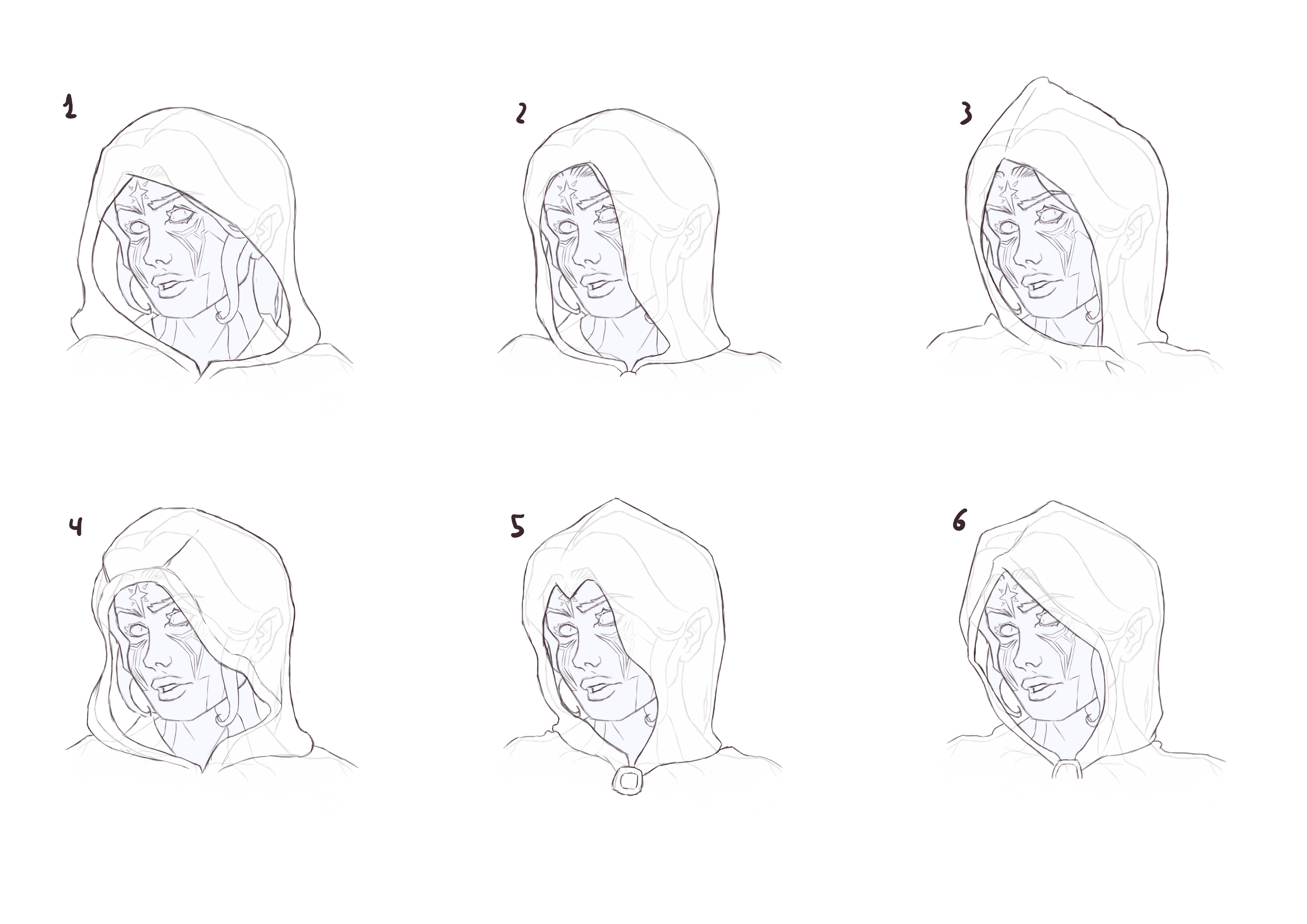 Hoods sketches