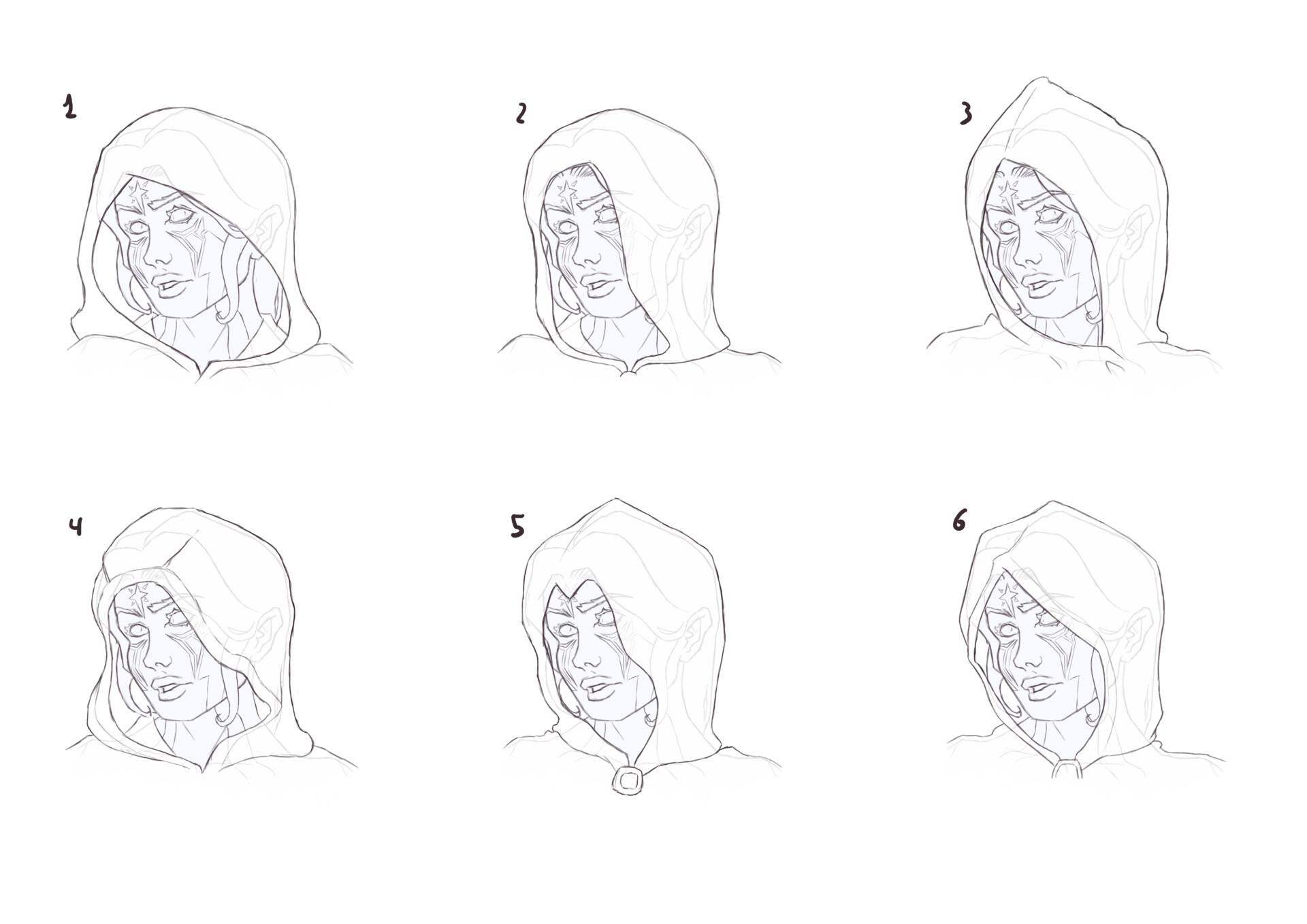Hoods sketches