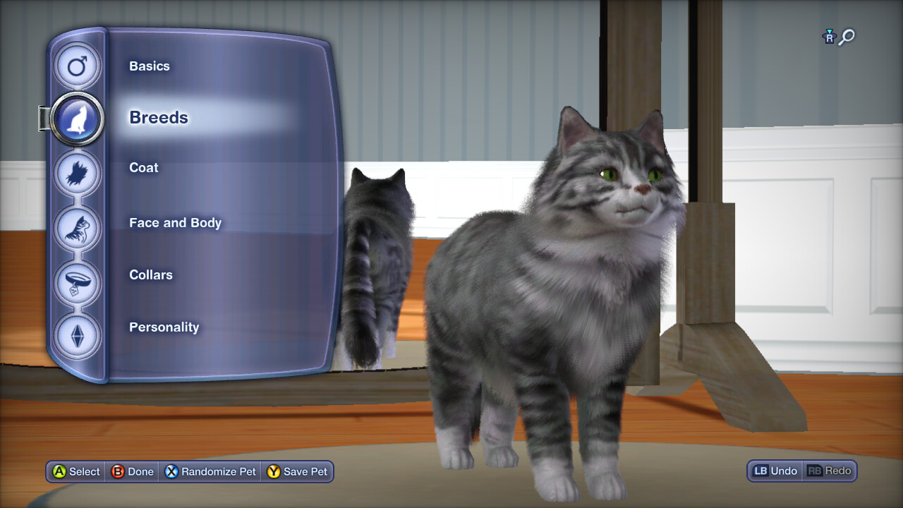 Create a Pet - main menu