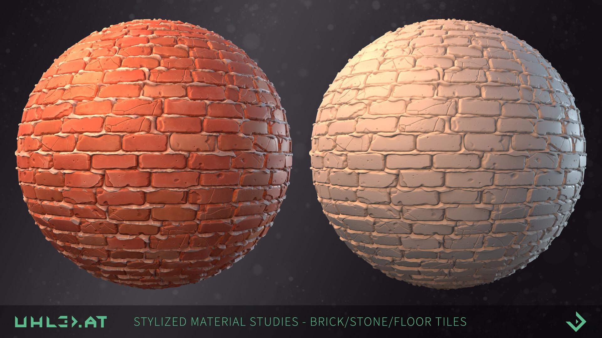 Dominik uhl stylized brick stone studies 06