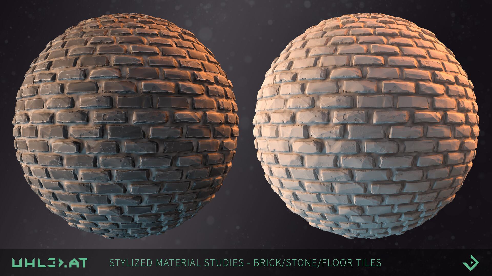 Dominik uhl stylized brick stone studies 05
