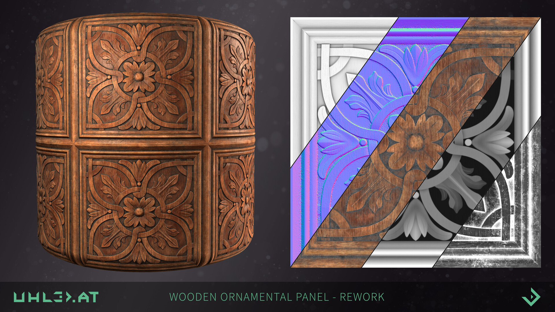 Dominik uhl wood panel ornament rework 05