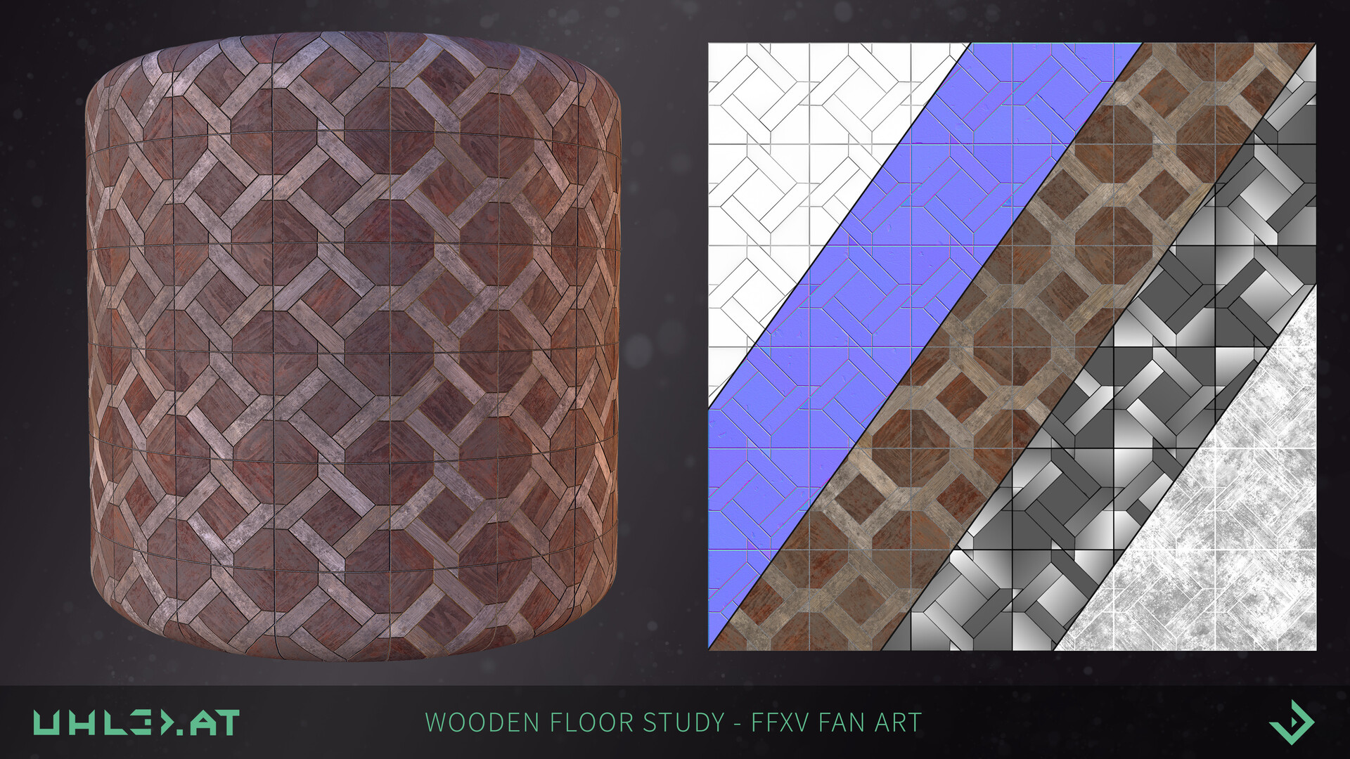Dominik uhl wooden floor pattern ffxv 06