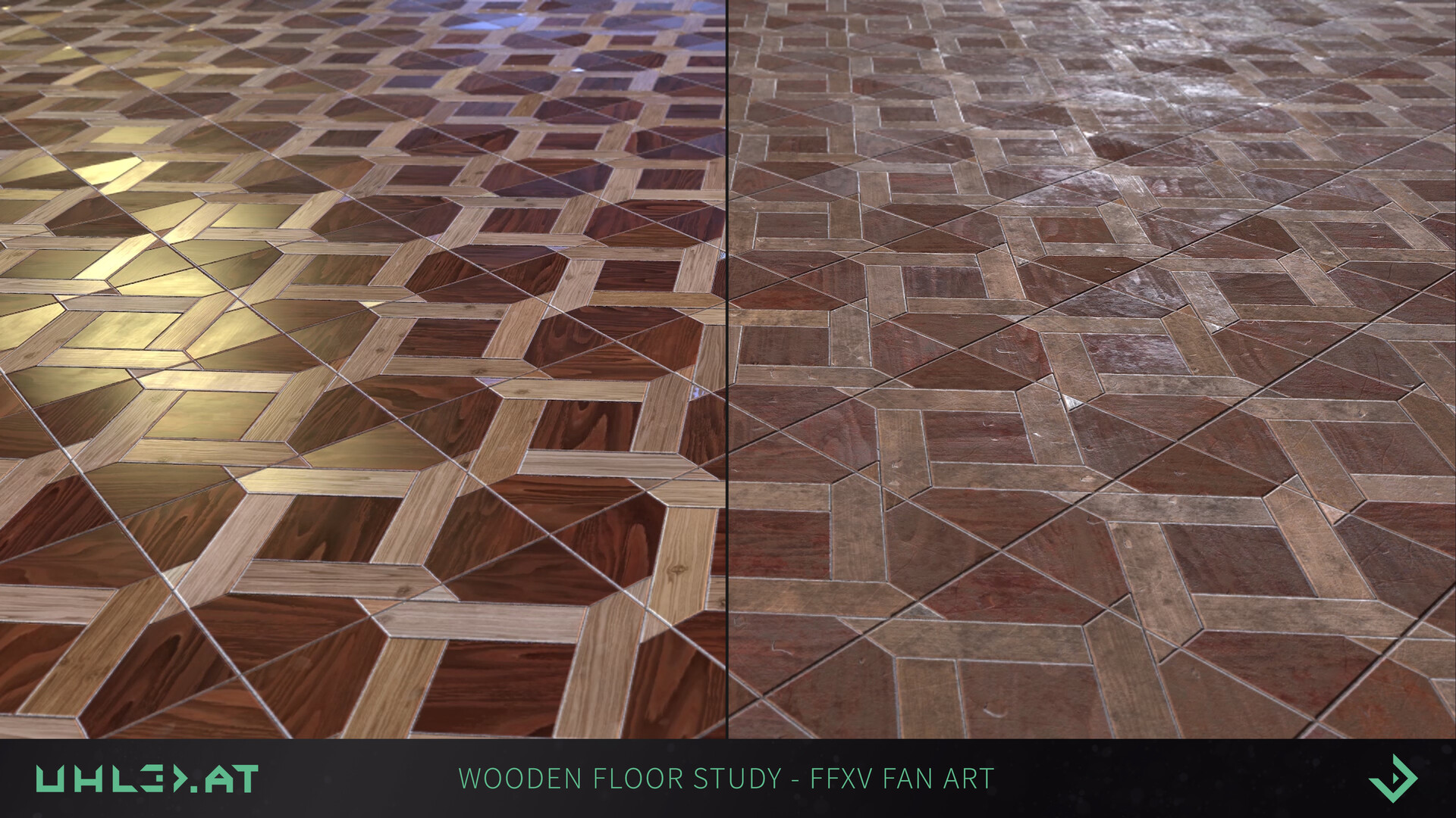 Dominik uhl wooden floor pattern ffxv 03