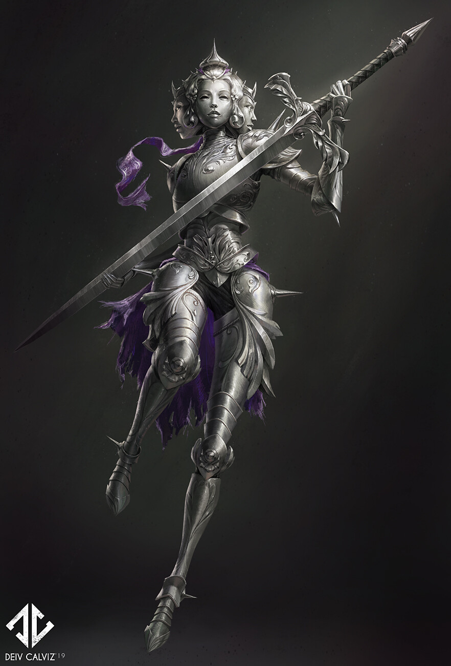 Knight Concept - Iron Maiden - Procreate