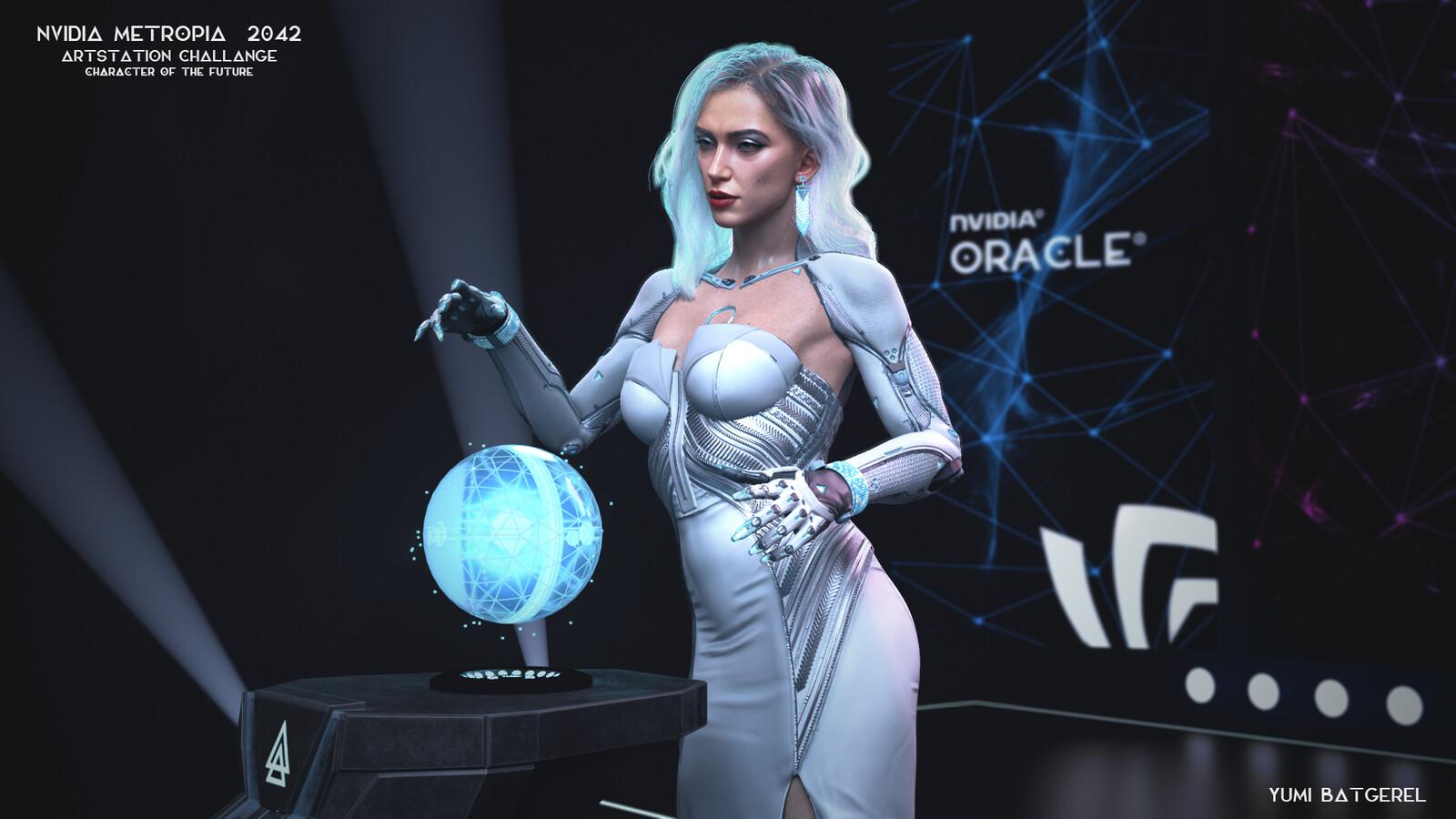 Artstation Challenge, Nvidia - Metropia 2042