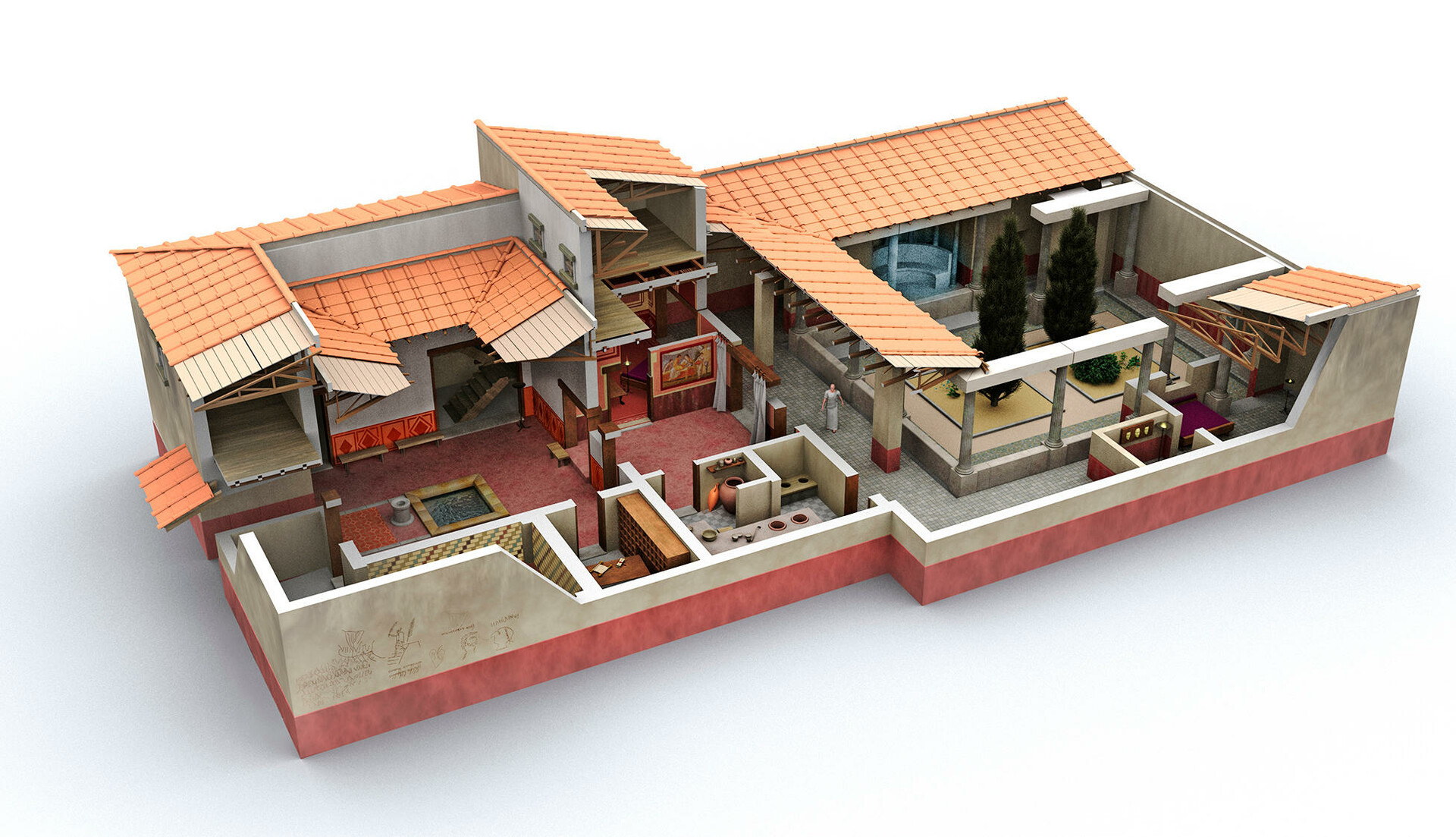 Artstation Roman Domus Trebius Valens House Jos 233