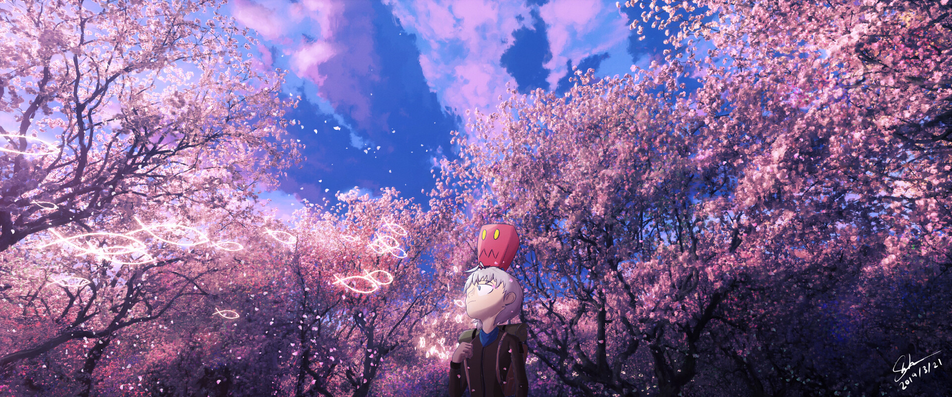 SideTrip : 開花 - Blossoming. This image was made in time for sakura trees blossoming.