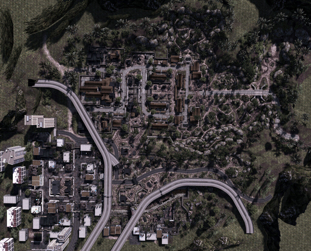 M.A.G. Panama military Base and layout. Was level owner on this 128 plater multiplayer map. Asset placement, routing, lighting, terrain painting and displacement, optimization, spawn locations, sight lines, streaming, and occluders.
