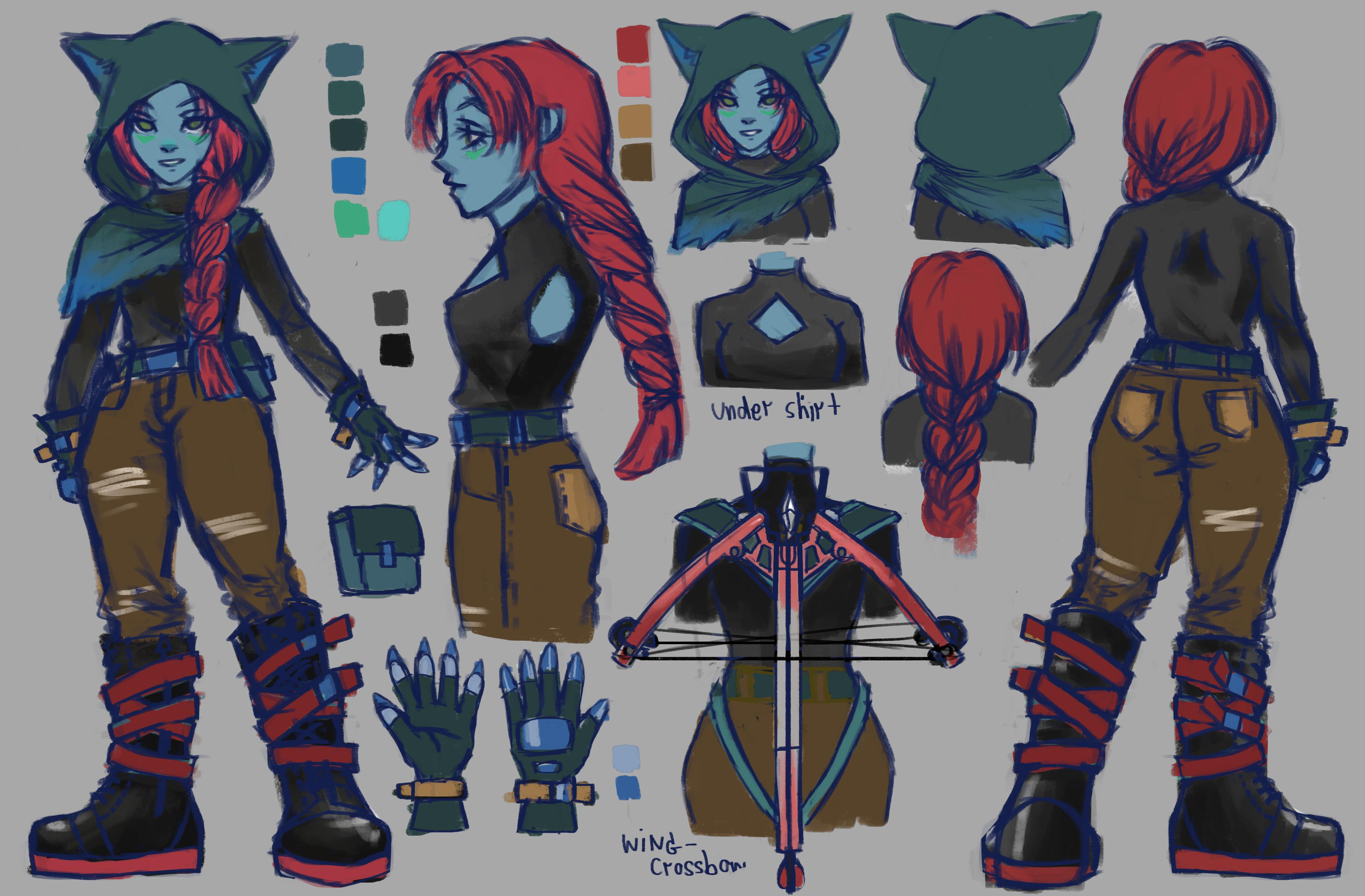 TalesRunner Character Concept - Gretel skin variation 2