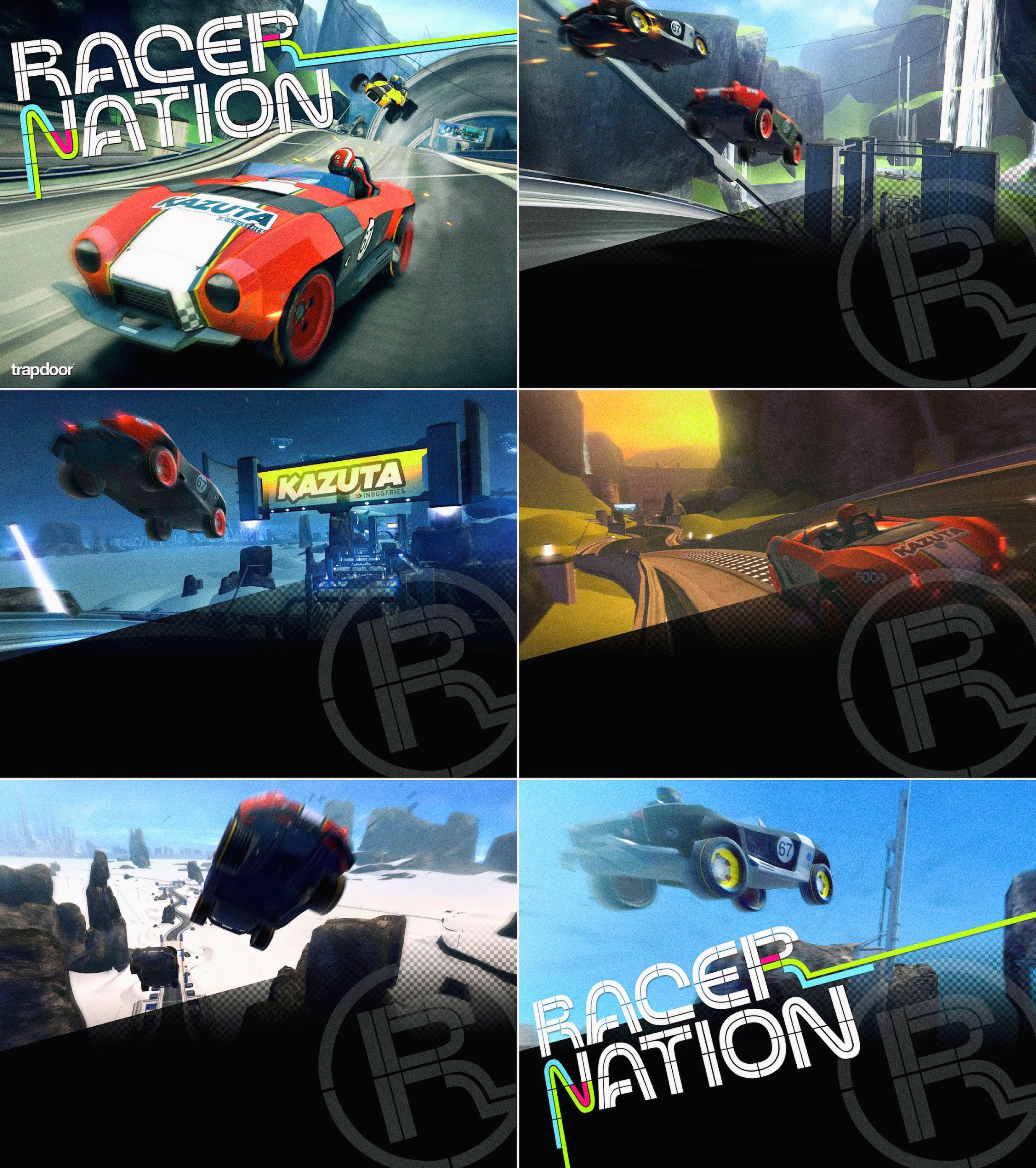 Screenshots of the game and the different tracks available...