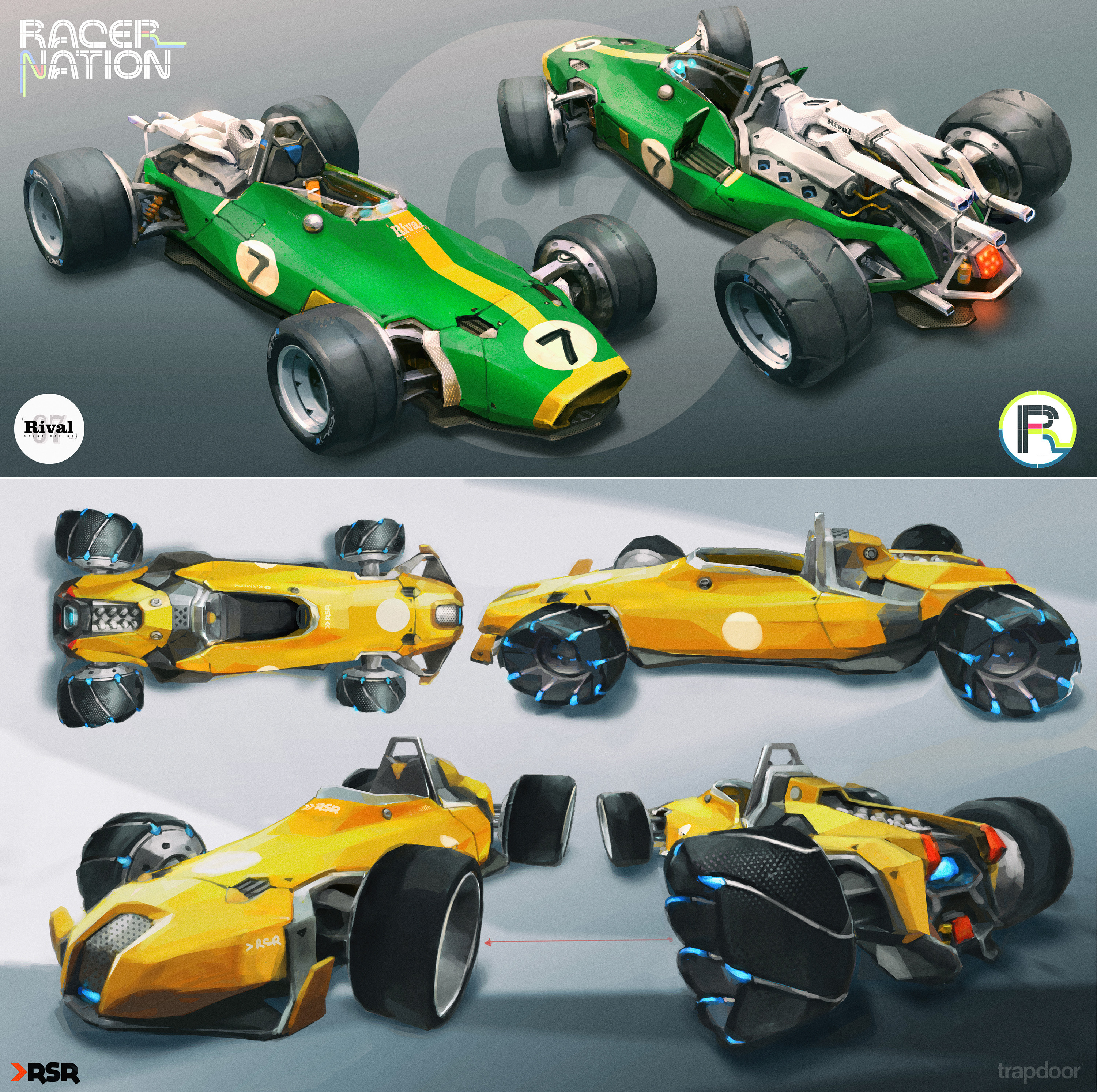 Our prototype car was inspired by the classic Honda F1 RA300...