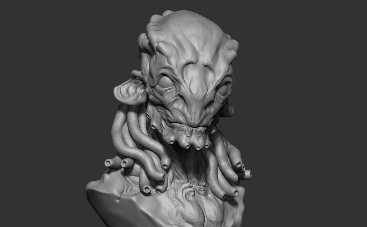 Pablo munoz gomez creature sketch zbrush sculpt