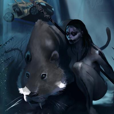 Sebastian diaconu 1 girl and sabertooth tiger 4