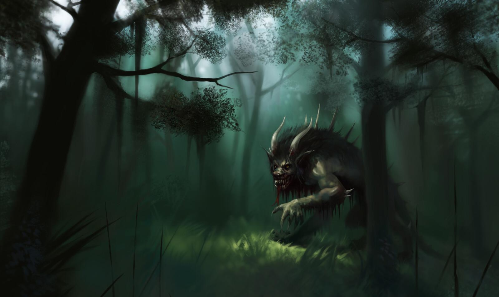 Artstation A Forest Monster Sebastian Diaconu