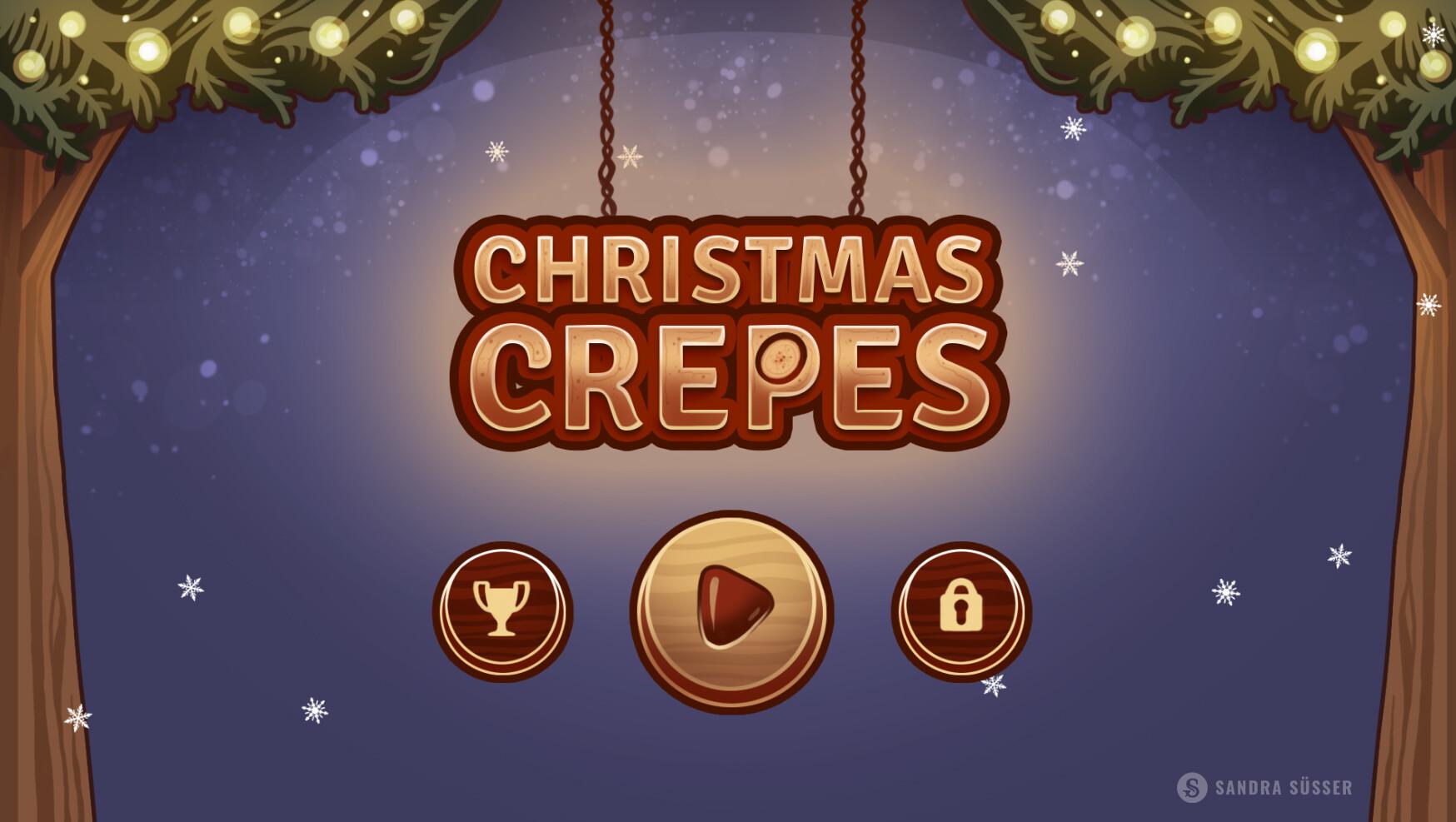 Christmas Crepes Start Screen