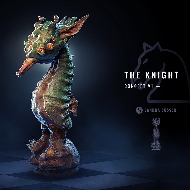 Alien Chess Set – The Knight