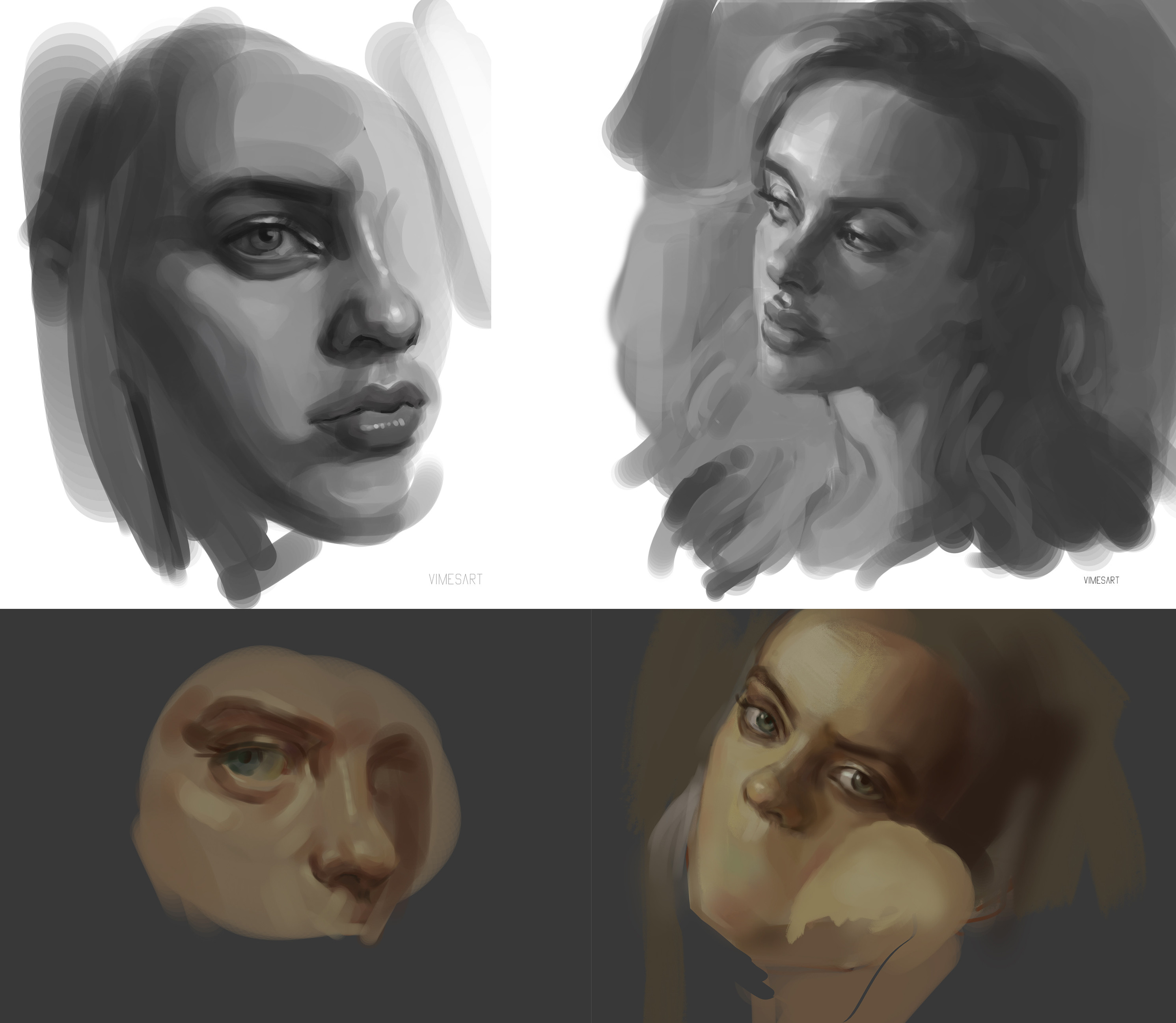 Studies for character features