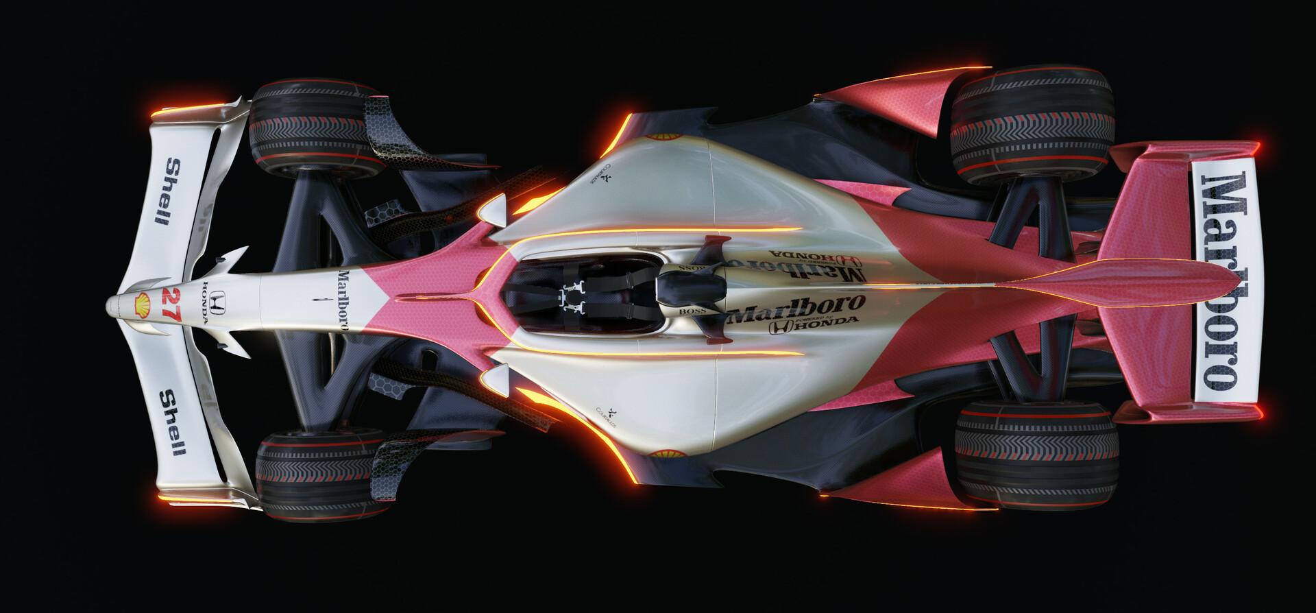 ArtStation - Futuristic F1 car Retro McLaren (Eevee