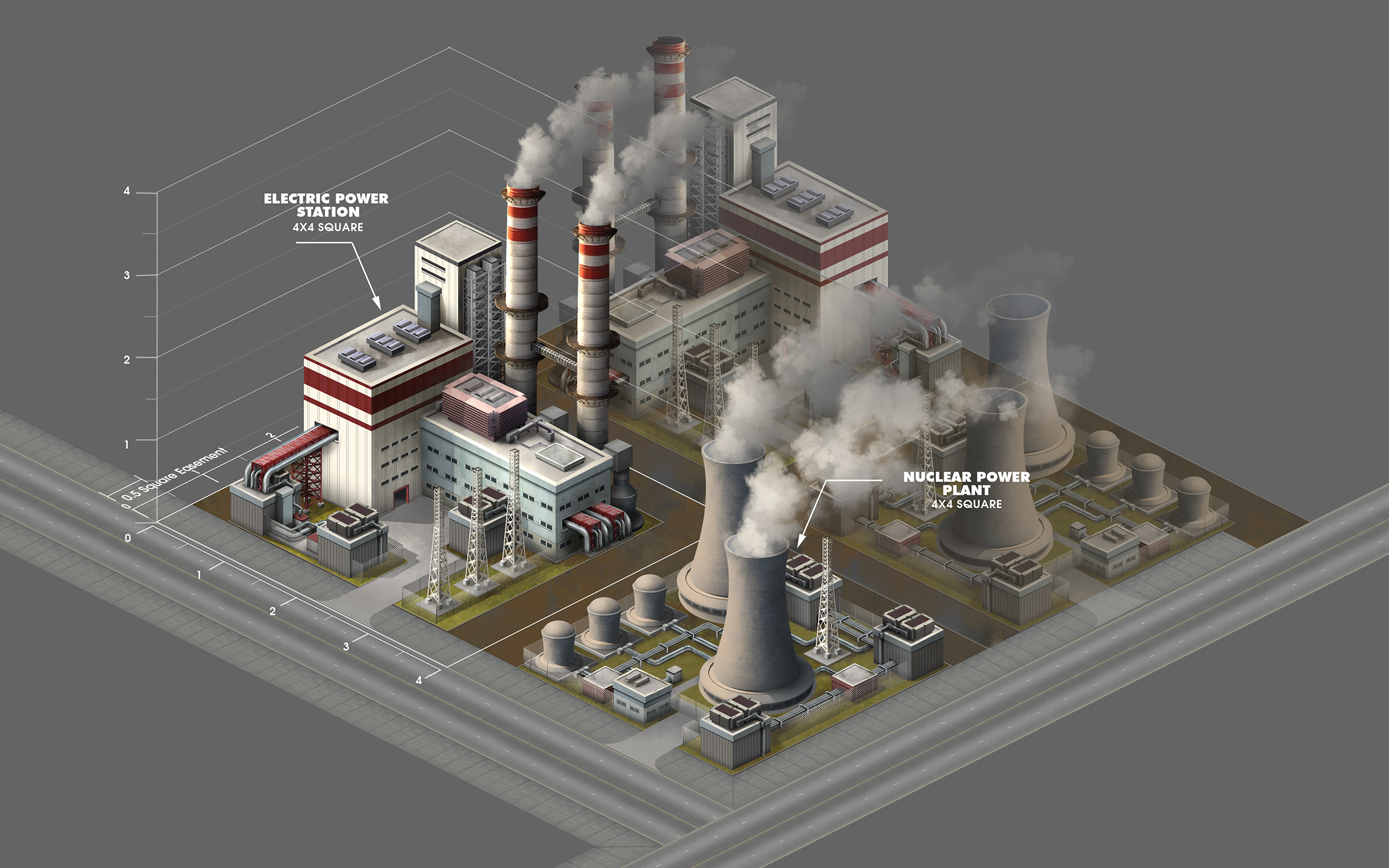 Power plant structures
