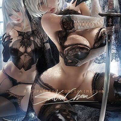 Sakimi chan full lace 2b nsfw 03